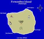 Galapagos vacations, Fernandina Island map