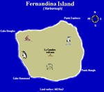 Galapagos Islands, Fernandina Island map