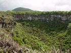 Galapagos Islands landscapes pictures, Los Gemelos, Santa Cruz Island