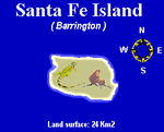 Galapagos Islands, Santa Fe Island map